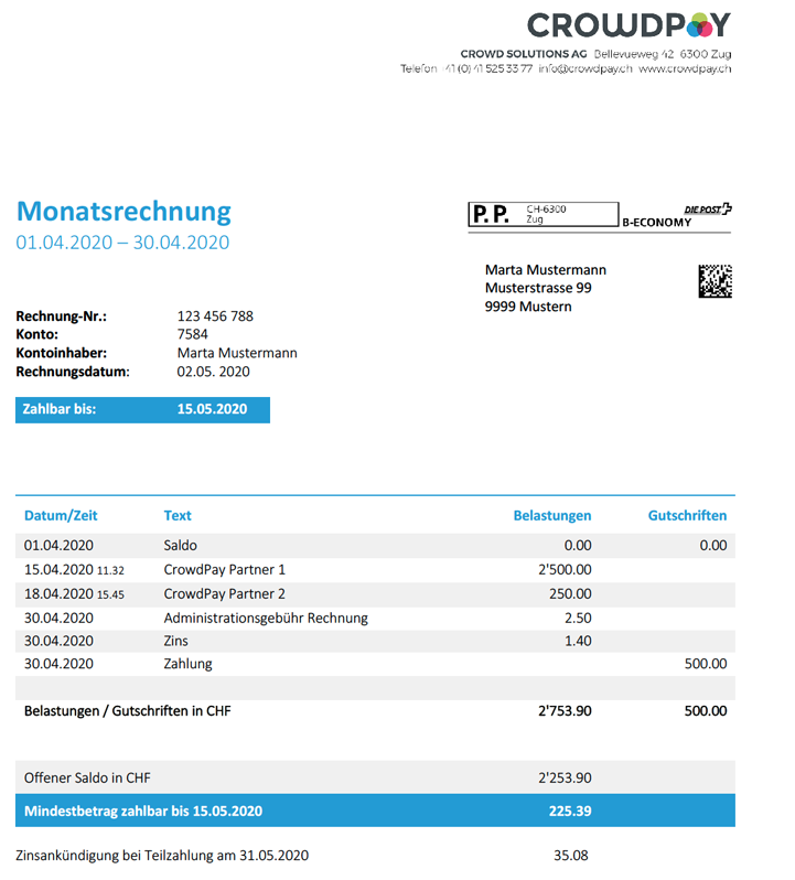 Interactive Invoice Example